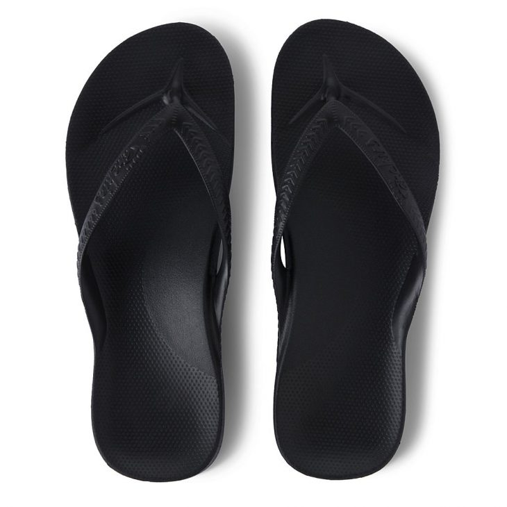 Archies Black - Arch Support Thongs »