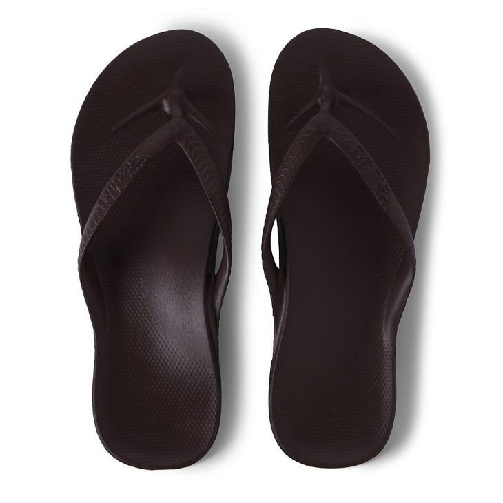 Archies Brown - Arch Support Thongs »