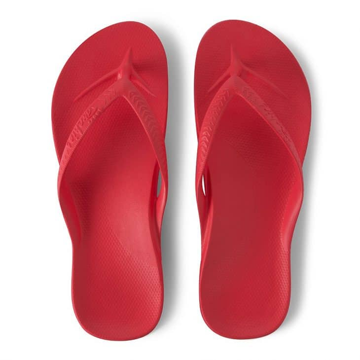 Archies Coral - Arch Support Thongs -