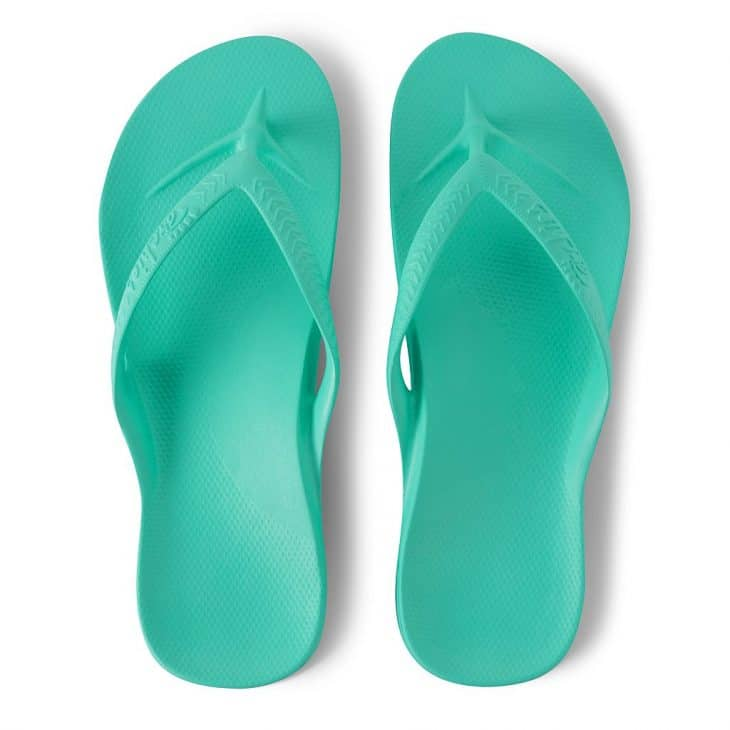 Archies Mint - Arch Support Thongs »