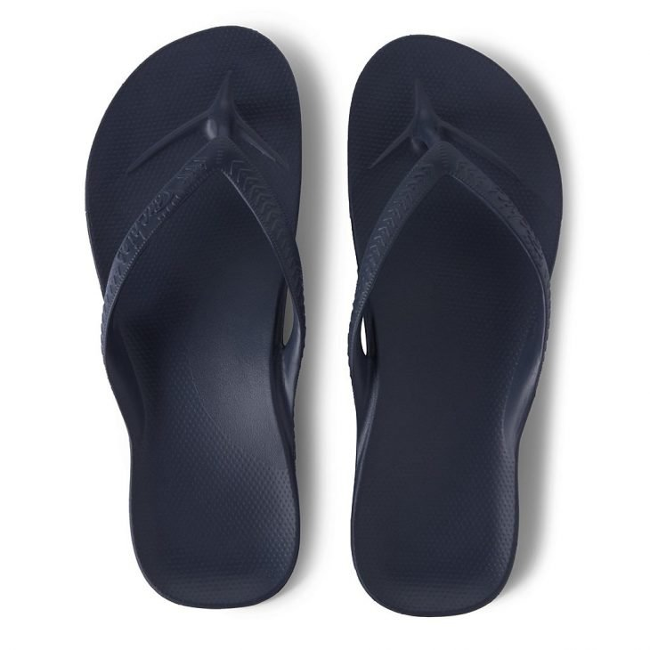 Archies Navy - Arch Support Thongs -