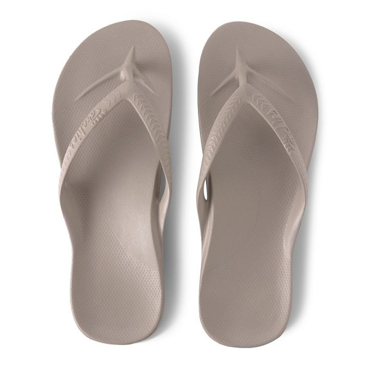 Archies Taupe - Arch Support Thongs -