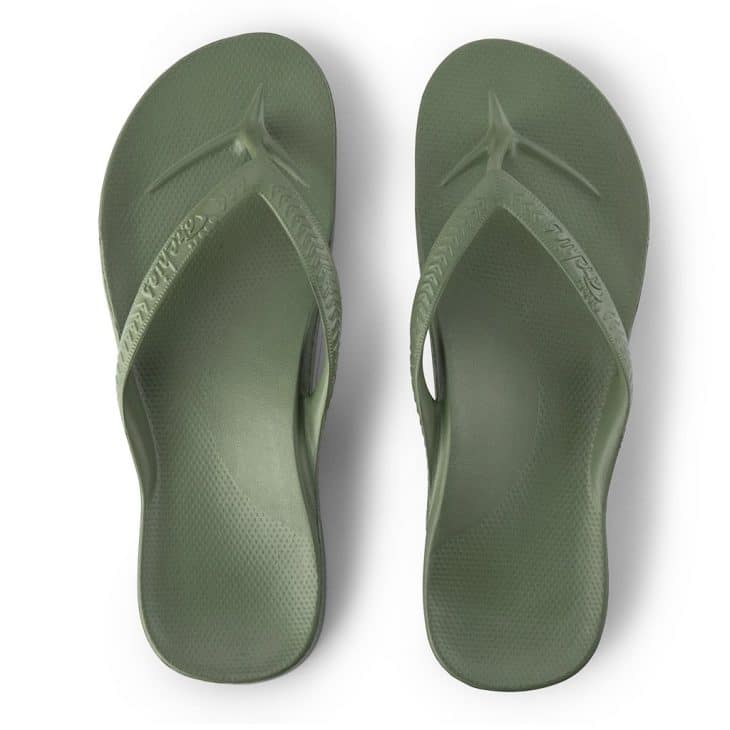 Archies Khaki - Arch Support Thongs -