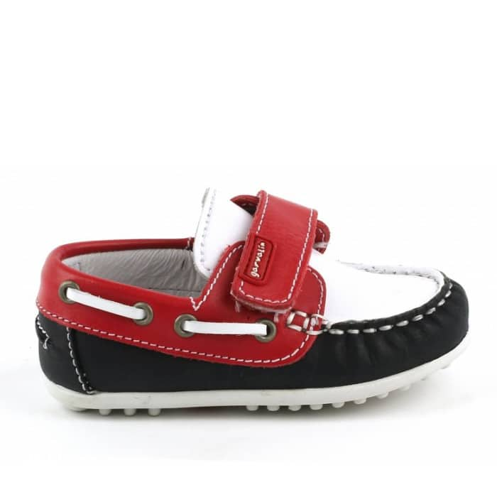 GARVALIN Baby Boys Boat Shoe Red/White -