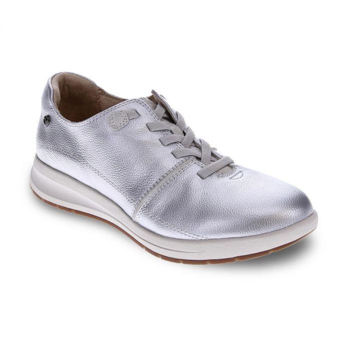 REVERE Crete Stretch-Lace Sneaker Pearl/Oyster Lizard »