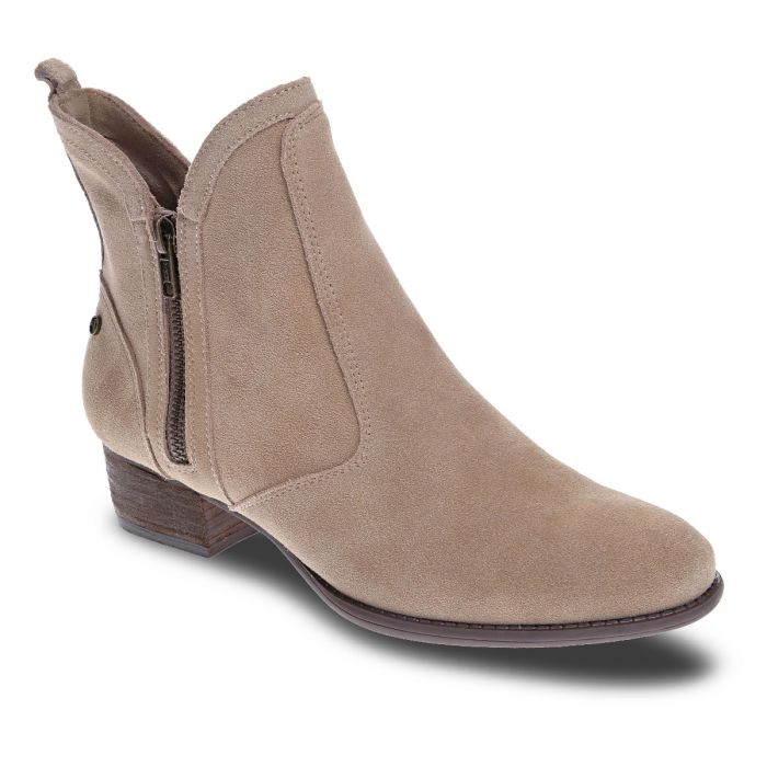 REVERE Siena Bootie Taupe Suede -