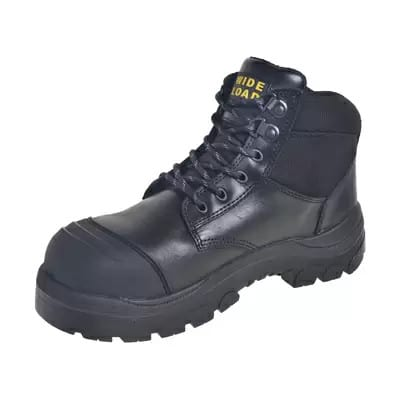 WIDE LOAD Steel Toe Lace Up Boot Black -