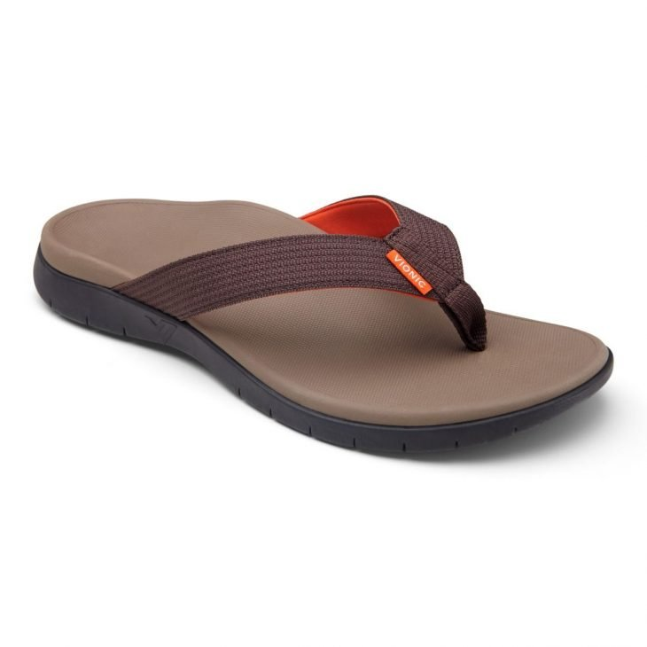 VIONIC Mens Islander Dark Brown -