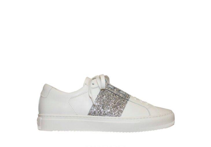 FRANKiE4 STEViE White/Silver Glitter -