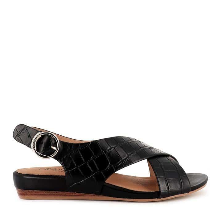 FRANKiE4 AMBER Black Croc -