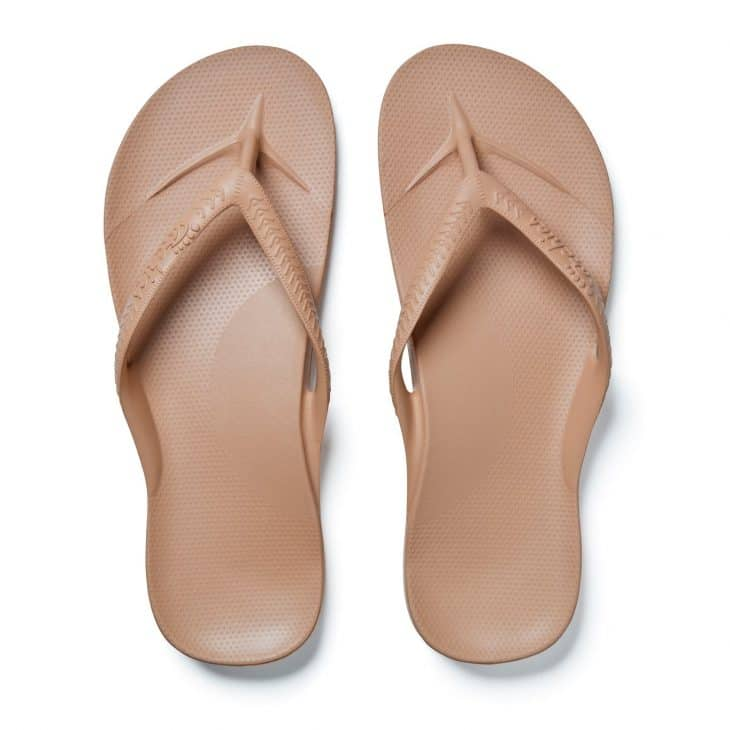 Archies Tan - Arch Support Thongs »